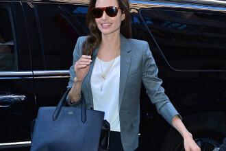 Angelina Jolie, implicata intr-un accident auto. Doua cauciucuri ale masinii care o transporta au explodat