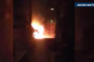 Doua masini, incendiate in Fagaras. Politistii cred ca este vorba despre o razbunarea din cauza unei neintelegeri in afaceri