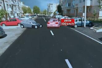 ANIMATIE GRAFICA. Momentul in care un sofer intra cu 100 km/h pe contrasens. Doi oameni au murit in urma cumplitului accident