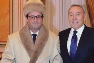 Presedintele Hollande a cerut ca aceasta poza cu el in Kazahstan sa fie stearsa imediat!