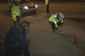 Accident grav la Sibiu. Un tata si fiica lui au ajuns la spital, dupa ce au fost loviti pe trecerea de pietoni