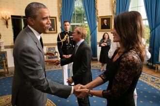 Nadia Comaneci a postat o fotografie de la o intalnire cu Barack Obama, care a avut loc in vara