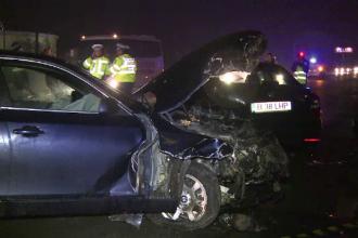 Un barbat a murit, iar fiica sa a fost ranita dupa ce masina in care se aflau s-a lovit de un camion