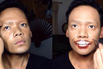 Asa arata un makeup artist cand incepe sa se machieze. E surprinzator in ce se transforma pana la final