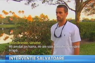 Tanarul declarat erou national in SUA: a salvat un om de la inec. Intreaga operatiune a fost filmata de un martor