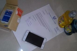 A cumparat online un Samsung Galaxy Core 2, insa a primit in pachet un sapun. Surpriza avuta dupa ce s-a plans pe Facebook