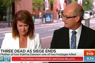 O jurnalista izbucneste in lacrimi in direct, cand anunta numele uneia dintre victimele de la Sydney. VIDEO
