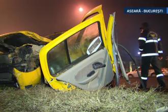 Taxi lovit cu putere de un autocar, pe DN 1. Soferul autoturismului, salvat de echipajul de descarcerare