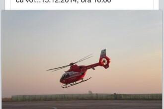 Ultima fotografie cu elicopterul SMURD prabusit la Constanta facuta chiar inainte de tragedie. Mesajul postat pe internet