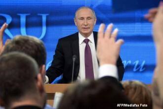 Conferinta de presa maraton a lui Vladimir Putin: a vorbit despre starea rublei, NATO si a marturisit ca este indragostit