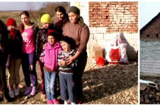 Miracol de Craciun pentru o familie din Timis care traia ca intr-un grajd. O echipa de voluntari le-a refacut complet casa