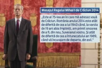Mesajul de sarbatori al Regelui Mihai pentru romani.