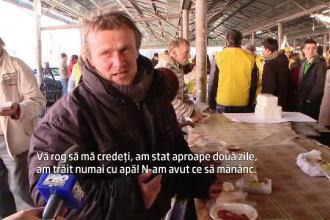 Gest impresionant al unei asociatii din Timisoara. A impartit mancare oamenilor nevoiasi: