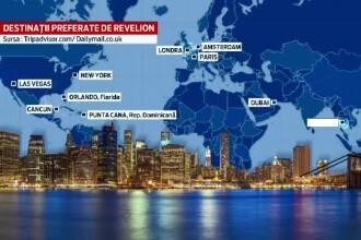 TOPUL celor mai dorite destinatii de Revelion: turistii prefera Londra, New York-ul sau Asia. Bulgaria, la polul opus
