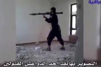 Un filmulet care circula pe internet starneste controverse. Momentul in care un luptator in Statul Islamic se arunca in aer