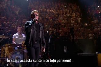 Trupa U2 va lansa o melodie in memoria victimelor atentatelor din Franta. Anuntul facut de Bono la concertul din Paris