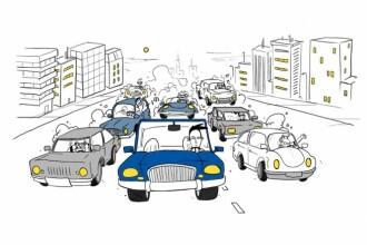 Efectul de unda in trafic, analizat de cercetatori: