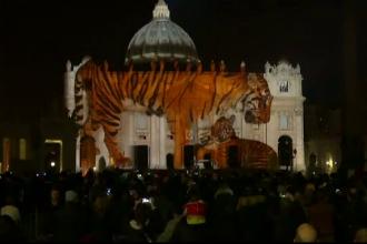 Spectacol impresionant de fotografie la Vatican. Bazilica San Pietro, transformata intr-un ecran imens