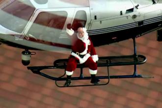 Mos Craciun a ajuns cu elicopterul in LA. Gestul impresionant al trupelor SWAT pentru copiii de la un Spital de Ortopedie