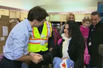 Peste 150 de refugiati sirieni incep o noua viata in Canada. Premierul i-a intampinat pe aeroport