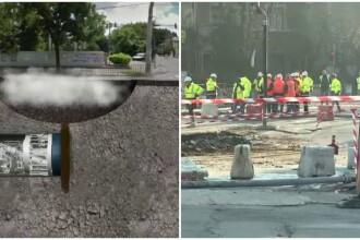 Cladiri in pericol si asfalt surpat dupa sapaturile la Magistrala 5 de metrou. Sedinta de urgenta la Primaria Capitalei