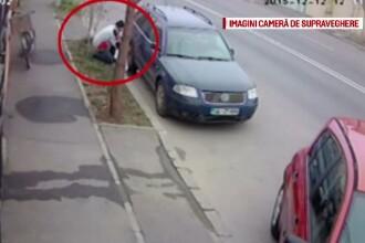 Proprietarul unei masini din Braila cauta hotul care i-a furat capacul de la roata. Imaginile circula pe internet