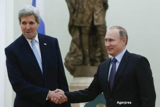 Intalnire la Kremlin intre Vladimir Putin si John Kerry. Declaratiile facute de cei doi lideri