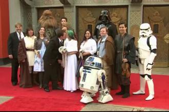 Au avut o nunta exact ca-n filmul preferat, Star Wars. Ce invitati au avut tinerii din Australia