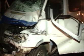 Carambol pe autostrada Timisoara-Lugoj. 11 cetateni bulgari au fost raniti, dupa ce masinile in care se aflau s-au tamponat