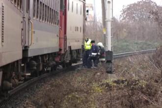 Barbat lovit mortal de tren, in Timisoara. Omul nu s-a miscat de pe linii, desi a vazut locomotiva venind spre el