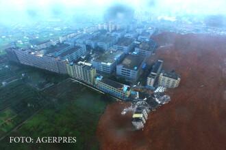 Alunecare de teren in China: 22 de cladiri s-au prabusit din cauza neglijentei constructorilor. GALERIE FOTO