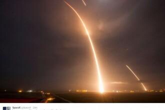 SpaceX reuseste in premiera sa readuca pe Terra prima treapta a rachetei sale Falcon 9, dupa o lansare de sateliti