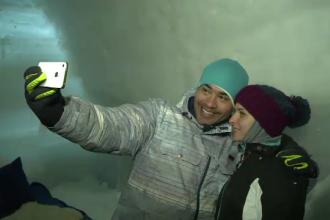 Au venit din Venezuela ca sa petreaca un Craciun la peste 2000 de metri altitudine, la Balea Lac: