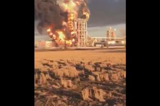 Un incendiu devastator a avut loc la o rafinarie a celei mai mari companii energetice din Italia, ENI. VIDEO