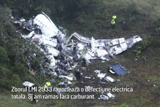 Dialogul dintre pilotul avionului prabusit in Columbia si turnul de control.