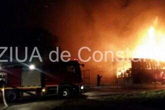 Incendiul din Agigea ar fi pornit de la un scurtcircuit. Pagubele se ridica la 200.000 de euro