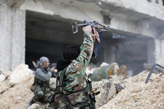 10 tinte ale Statului Islamic, distruse de armata turca intr-un raid in Siria. Rebelii preiau controlul intr-o regiune cheie