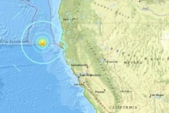 Cutremur de 6,5 in largul Californiei, la o adancime de 10 kilometri. Nu a fost emisa alerta de tsunami