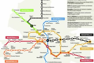 Lucrarile la linia de metrou Gara de Nord – Otopeni incep in vara lui 2017. Ce traseu si ce statii va avea Magistrala 6