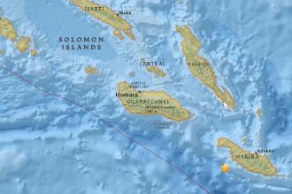 Cutremur de 7,7 pe Richter, inregistrat in Insulele Solomon. A fost emisa alerta de tsunami pentru mai multe insule