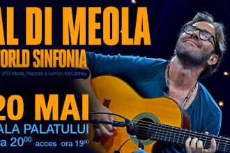 Celebrul chitarist Al Di Meola va concerta la Bucuresti, in 2017. Fanii vor asculta piese