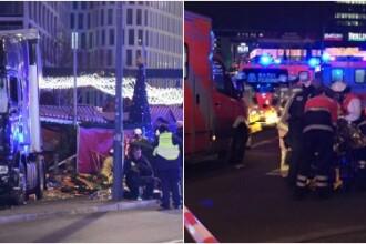 Atentat in Berlin. Un camion a intrat in multime, la un targ de Craciun: 9 morti si 50 de raniti. Soferul a fost arestat