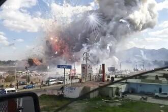 Cel putin 31 morti si 70 de raniti intr-o serie de explozii produse la o piata de artificii din Mexic. FOTO si VIDEO