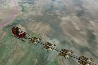 Urmareste-l pe Mos Craciun pe tot globul si afla cat timp mai e pana cand iti va aduce cadourile