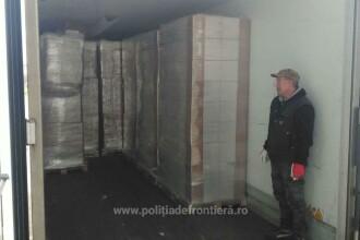 Tutun de 1 milion de euro, găsit într-un camion, printre paleţi