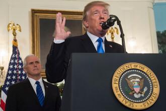 SUA recunosc oraşul Ierusalim drept capitală a Israelului. Trump a cerut mutarea ambasadei de la Tel Aviv