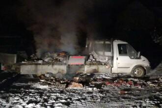 Sucevean reținut pentru 30 de zile, după ce a incendiat o camionetă plină cu țigări de contrabandă