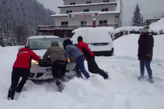 Avertizare ANM: ninsori în întreaga țară, începând de vineri seară până duminică