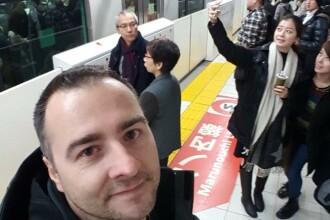 Rareş Năstase, despre diferenţele dintre staţiile de metrou de la noi şi cele din Tokyo. FOTO