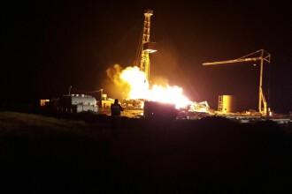 Cauza producerii incendiului de la sonda de gaz din Satu Mare